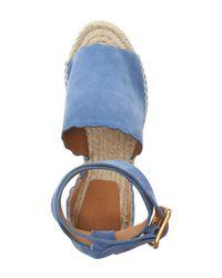 Chloé - Blue Lauren Espadrille Wedge Sandal - Lyst