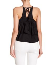 Haute Rogue - Black Floral Embroidered Tank Top - Lyst