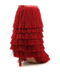 Cape Robbin - Red Alza Fringe Booties - Lyst