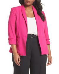 City Chic - Pink Dapper Blazer (plus Size) - Lyst