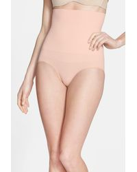 Yummie By Heather Thomson - Natural 'cameo' High Waist Smoother Briefs - Lyst