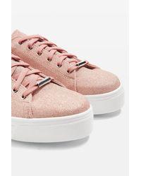 TOPSHOP - Pink Commander Platform Sneaker (women) - Lyst