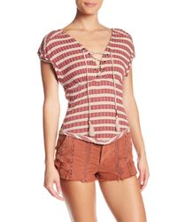 Free People - Red Sail Out Tee - Lyst