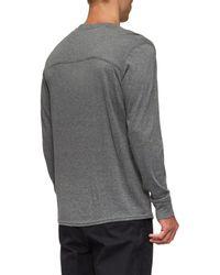 Tavik - Gray Lowell Long Sleeve T-shirt for Men - Lyst