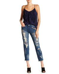 Blank NYC Blue Embellished Boyfriend Jeans