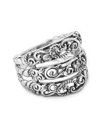 Carolyn Pollack - Metallic Sterling Silver Filigree Three Row Ring - Lyst