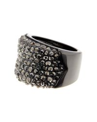 Ariella Collection - Multicolor Barrel Pave Ring - Lyst