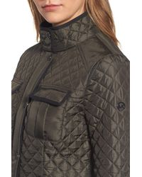 MICHAEL Michael Kors | Green Quilted Utility Jacket | Lyst