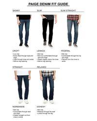 PAIGE | Blue Transcend - Federal Slim Straight Leg Jeans (gannon) for Men | Lyst