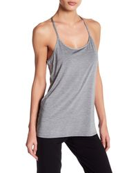 Hpe - Gray Racerback Spaghetti Strapped Top - Lyst