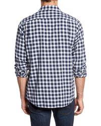 RODD AND GUNN - Blue Curtis Island Sports Fit Check Sport Shirt for Men - Lyst