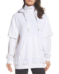 The Laundry Room - White Good Hood Sweatshirt Dress - Lyst