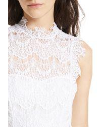 Free People White Daydream Lace Minidress