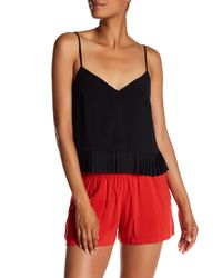 French Connection   Black Polly Plains Tank   Lyst