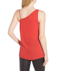 Trouvé - Red Asymmetrical Sleeveless Top - Lyst