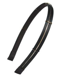 Cara | Black Skinny Metal Chain Headband | Lyst