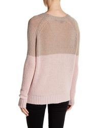 360cashmere - Pink Antoinette Colorblock Cashmere Sweater - Lyst