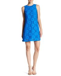 Cece by Cynthia Steffe | Blue Arlington Sleeveless Castuc Lace Shift Dress | Lyst