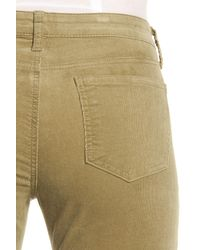 Kut From The Kloth - Green Diana Stretch Corduroy Skinny Pants (petite) - Lyst