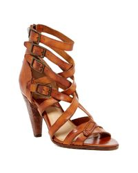 Frye | Brown Mika Leather Sandal | Lyst