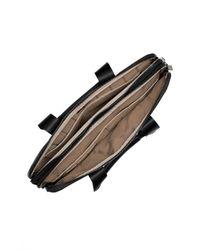 Ogio | Black Gran Premio Nylon & Leather Slim Briefcase for Men | Lyst
