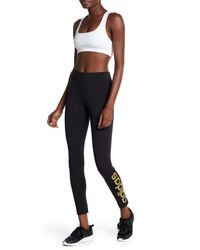 Adidas - Black Linear Tight Leggings - Lyst