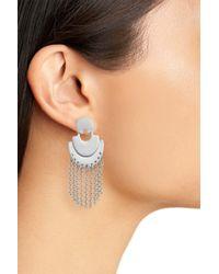 Treasure & Bond - Multicolor Double Arc Fringe Chandelier Earrings - Lyst