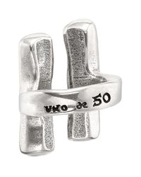 Uno De 50 - Metallic Unblocked Parallel Bar Pendant Open Ring - Lyst