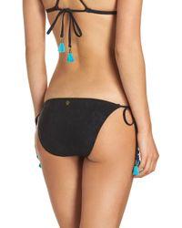 Nanette Lepore - Black Vamp Side Tie Bikini Bottoms - Lyst