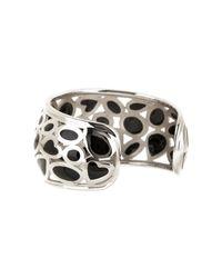 Roberto Coin - Metallic Sterling Silver Mauresque Black Enamel Cuff - Lyst