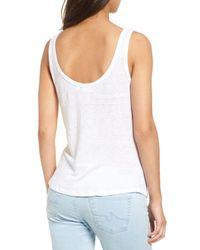 AG Jeans - White The Carmen Linen Tank - Lyst