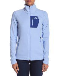 The North Face - Blue Bordo Full Zip Jacket - Lyst
