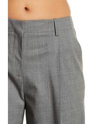 Lafayette 148 New York - Gray Side Zip Wide Leg Wool Blend Pants - Lyst