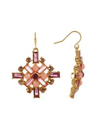 Carolee - Multicolor Baguette Square Drop Earrings - Lyst