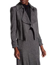 Anne Klein - Black Ruffled Tweed Jacket - Lyst