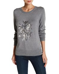 French Connection | Gray Bambi Snowflake Sweater | Lyst
