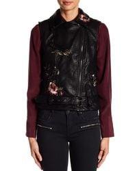 Vigoss | Black Embroidered Leather Vest | Lyst