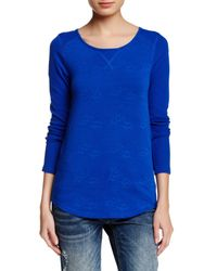 Lucky Brand - Blue Jacquard Thermal Tee - Lyst