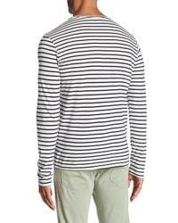 Save Khaki - White Long Sleeve Marine Stripe Crew Neck Tee for Men - Lyst