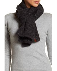 Frye | Black Knit Wrap Scarf | Lyst