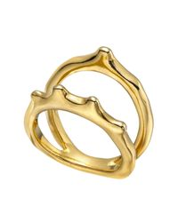Uno De 50 - Metallic Gold-plated Wakame Ring - Lyst