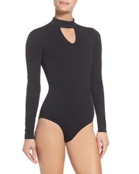 Zella - Black So Flawless Keyhole Bodysuit - Lyst
