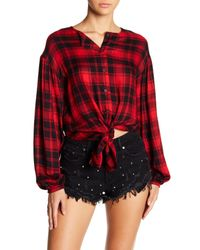 Mustard Seed - Red Plaid Button Shirt - Lyst