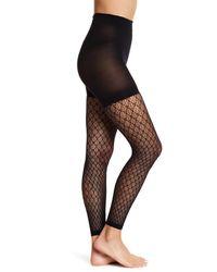 Spanx | Black Geometric Footless Tights | Lyst