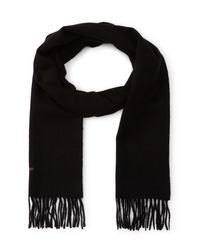 Barbour - Black Plain Lambswool Scarf for Men - Lyst