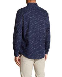 Perry Ellis - Blue Medallion Print Stretch Poplin Shirt for Men - Lyst