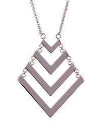Trina Turk - Metallic Chain Drop Chevron Pendant Necklace - Lyst