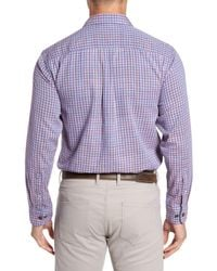Tommy Bahama - Purple Dual Lux Standard Fit Gingham Sport Shirt for Men - Lyst