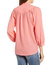 Caslon - Pink Curved Yoke Dobby Shirt - Lyst