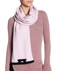 Kate Spade - Pink Solid Muffler - Lyst